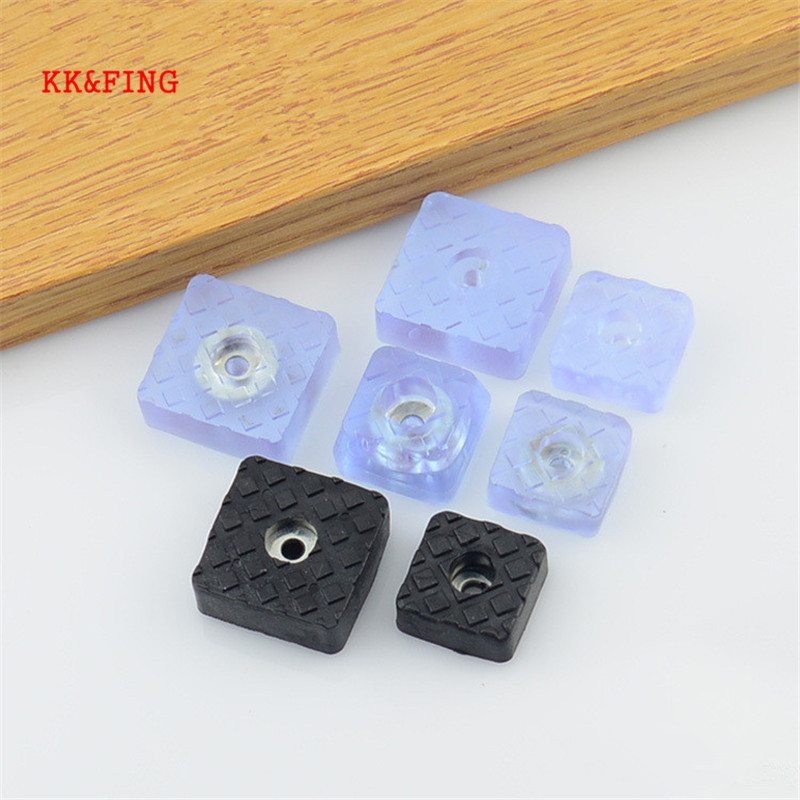 KK&FING 10pcs Clear Soft Furniture Chair Table Feet Leg Bottom Non-slip Pads Furniture Sofa Stool Foot Covers Floor Protectors