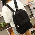 Atualizações de estilo coreano pure doce cor mulheres lona mochila mochila escolar estudante universitário saco de lazer mochila