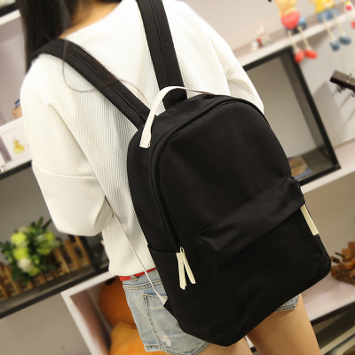 Prix pour Mises à niveau coréenne style pur de couleur de sucrerie toile femmes sac à dos collège école student book sac loisirs sac à dos