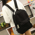 Upgrades korean style pure candy color canvas women backpack college student school book bag leisure backpack