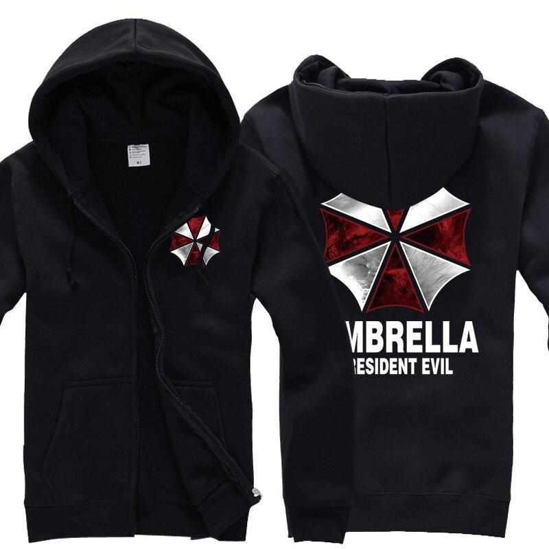 Biohazard Umbrella Corporation Resident Evil Coat Cosplay Costume Hoodie Jacket