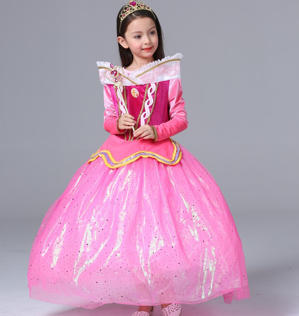 Sleeping Beauty princess elegant dresses for girls party Aurora ...