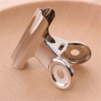 DL 51mm stainless steel metal WALLET receipt documents bill clip round clip folder wholesale shim Stationery for office supplies image
