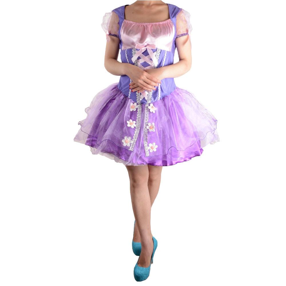 Tangled rapunzel princesa costume cosplay disfraces de halloween ...