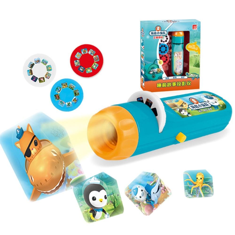 Children Sleeping Story Submarine Projector Flashlight Sleep LED Luminous Toys Light Projection  Lamp Led Fairy Tales