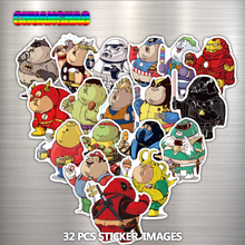 32 PCS fat hero cartoon sticker laptop bag cell phone motorcycle cool car sticker doodle toy