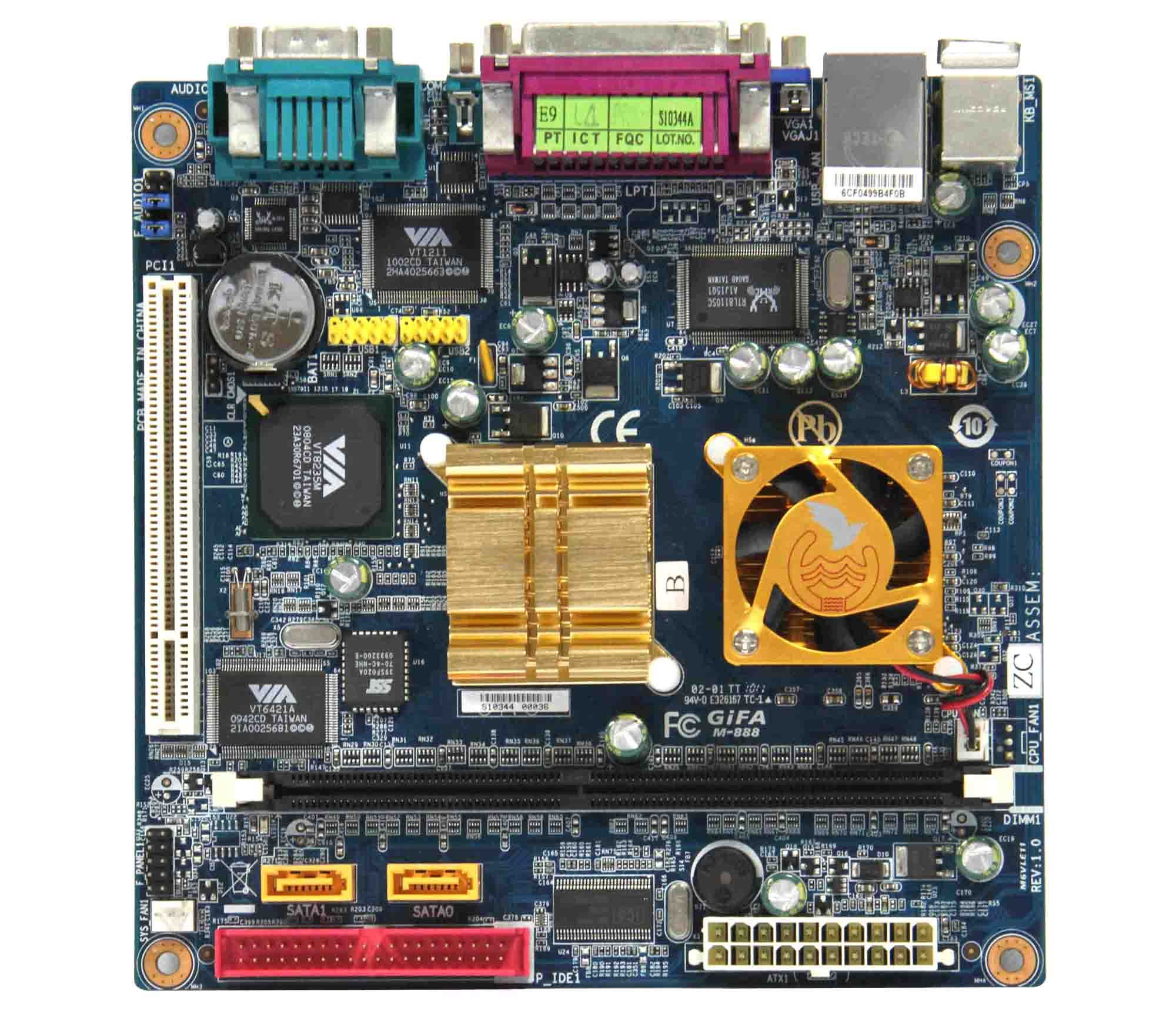 Gifa-888 Motherboard c3 industrial motherboard pos motherboard 100% Tested Good Quality