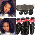 Lace Frontal Closure With Bundles Malaysian Loose Wave With Frontal 4 Bundles With Frontal Closure Loose Wave Lace Frontal Weave