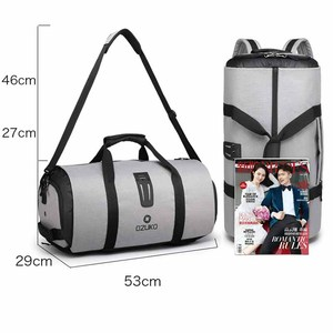 Image 5 - OZUKO 9209 Men Travel Garment Bag Women Duffel Bag Hanging Suitcase Clothing Business Backpack Bag Multiple Pockets