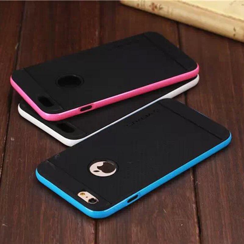 La nueva moda de silicona + PC 2 en 1 Armaduras proteger los casos para  Apple iPhone 6plus 6 splus cubierta del caso sostenedor Conchas 001f84e4cfae