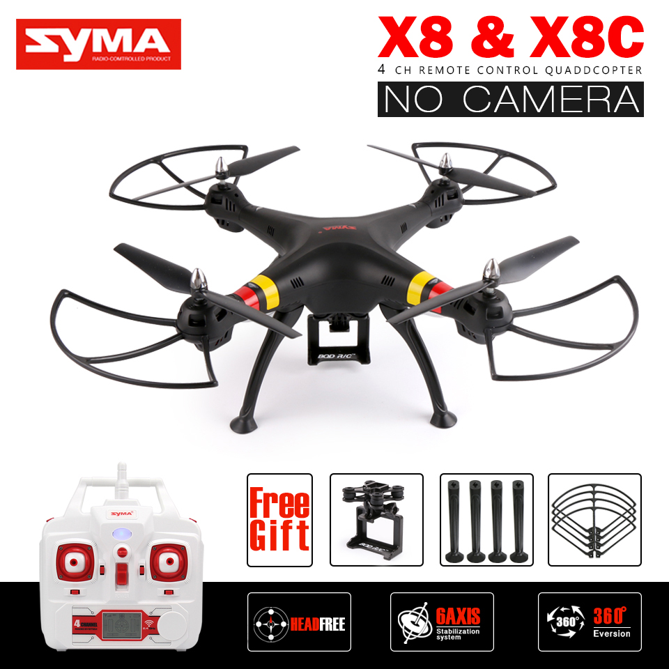 все цены на Syma X8 X8C RC Drone NO Camera 2.4G 6Axis RTF RC Helicopter Quadcopter Can Fit Gopro / Xiaoyi / SJCAM VS Syma X8W X8HG X8HW X8G