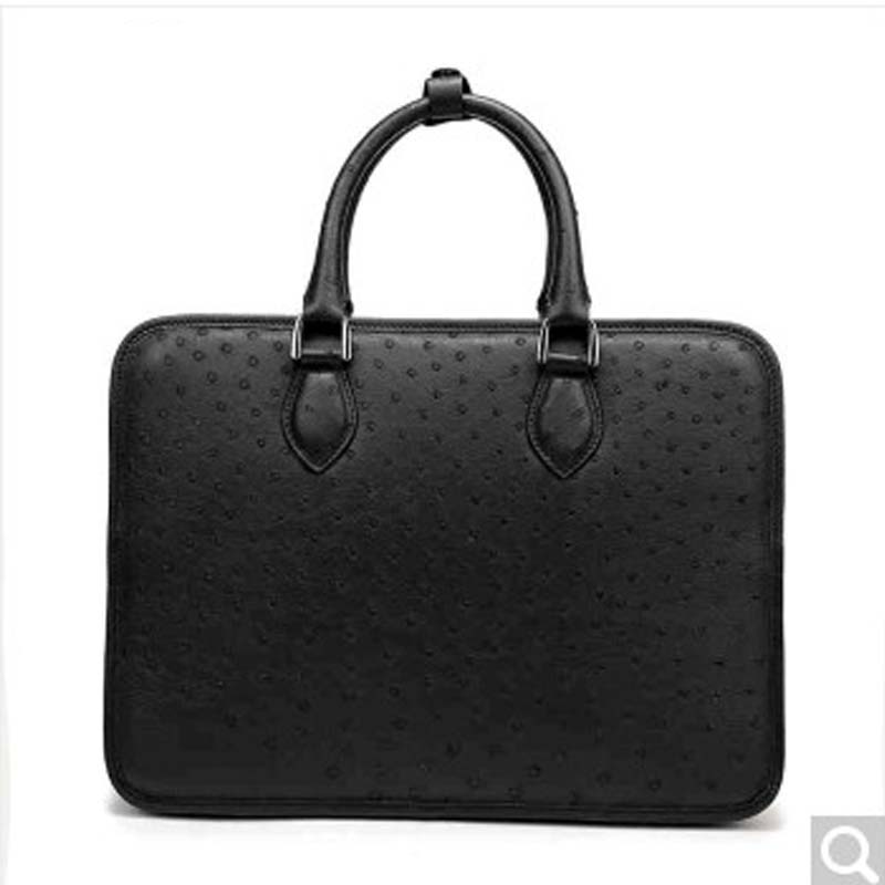 feikebeike 2018 new imported real Ostrich bag men's business briefcase all hand-made high-end atmosphere all handmade all things made new