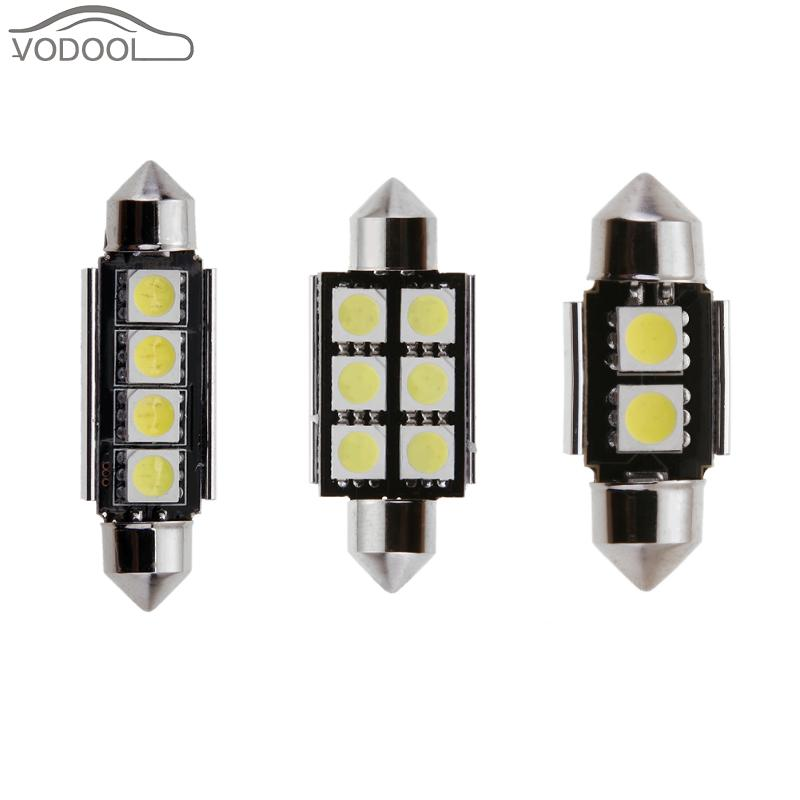 2Pcs 39mm 5050 LED Car Interior Dome Light Festoon Licence Plate Roof Lamp Automobiles Light-emitting Diode Reading Lamp Bulb