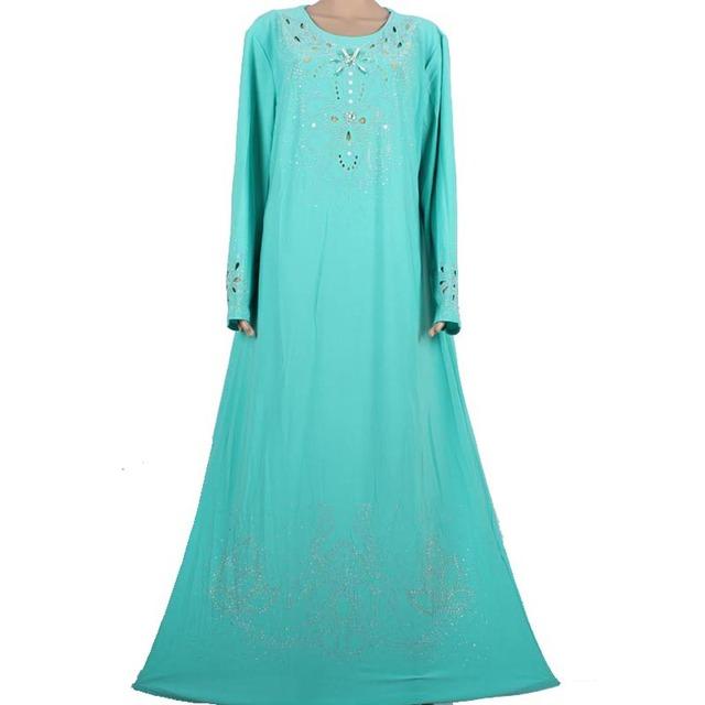 Abaya musulmán ropa Islámica para las mujeres decorado exquisito cuentas modest elegante dubai kaftan vestidos musulmanes 70M8896