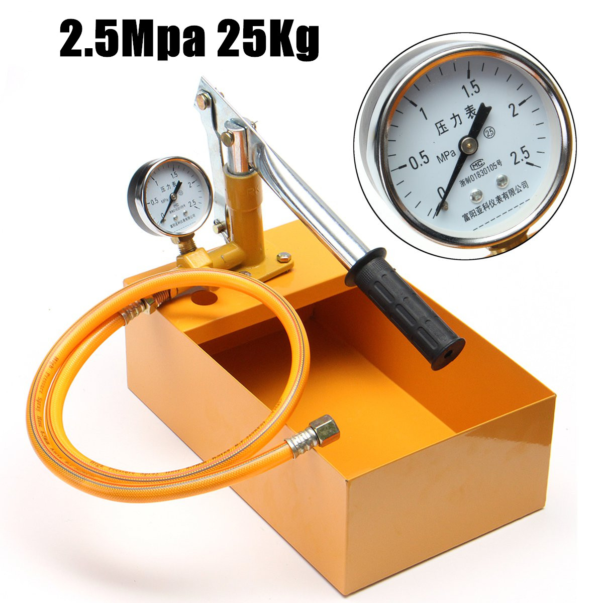 ZEAST 2.5Mpa 25kg Manual Water Pipe Pressure Test Pump Measuring Tool Suitable for Water Hydraulic Oil Pressure Testing Pump free shipping hand tool manual 4 mpa 40kg pressure test pump water pressure testing hydraulic pump 42mm pipe cutter free for you