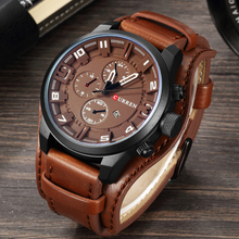 цена на CURREN Mens Watches Top Brand Luxury Leather Analog Quartz Men Watch Military Sport Male Waterproof Wristwatch relogio masculino