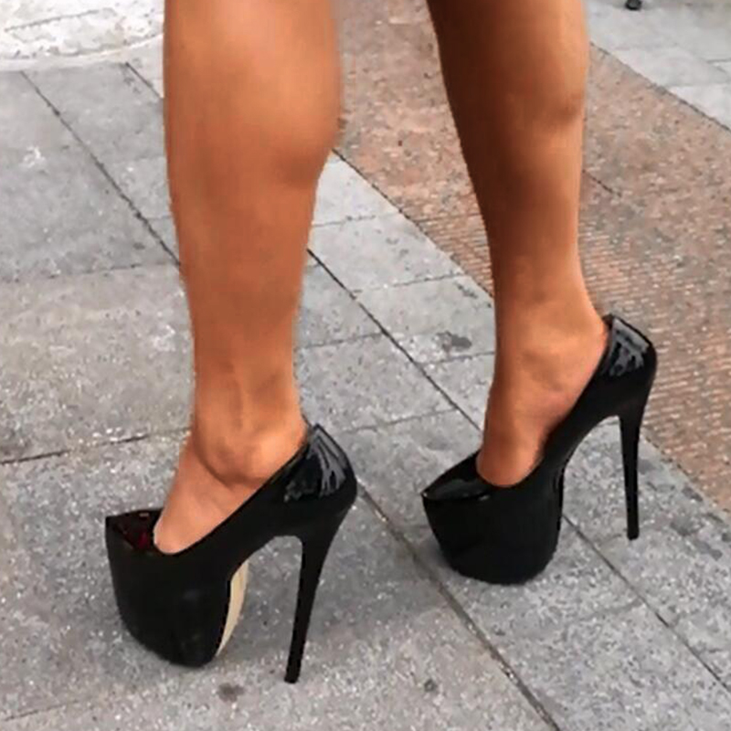 53f58ecb328 US $31.01 40% OFF|SARAIRIS Dropship Big Size 44 Classic 18cm High Heels  Thick Platform Shoes Woman Lady Sexy Party Wedding Women Shoes Pumps-in ...