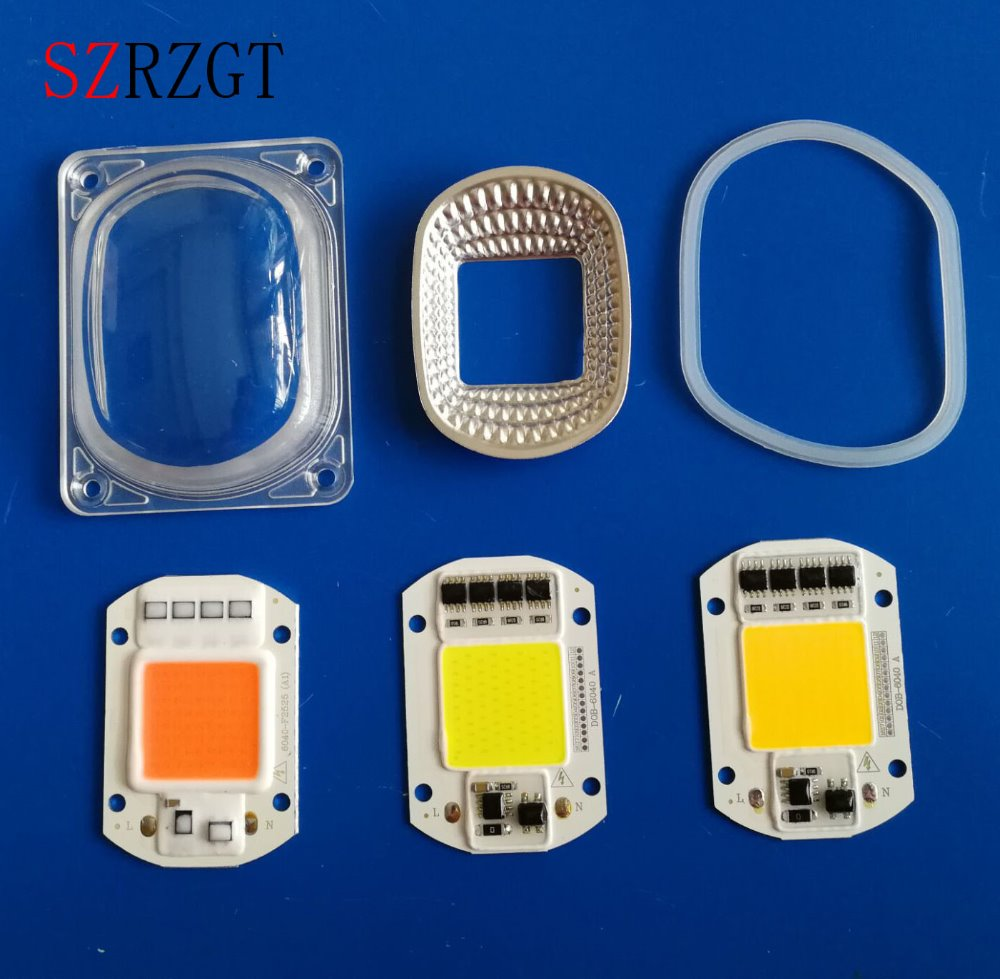 5set LED COB Chip Lens Reflector 230V 220V 110V 20W 30W 50W F LED Flood Light