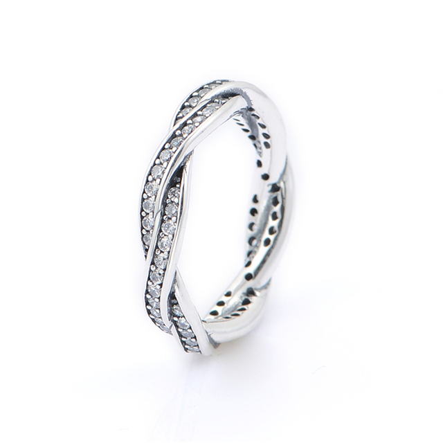 European Sterling-Silver-Jewelry Rings for Women 925 Silver Wedding Rings with CZ Crystal Wholesale