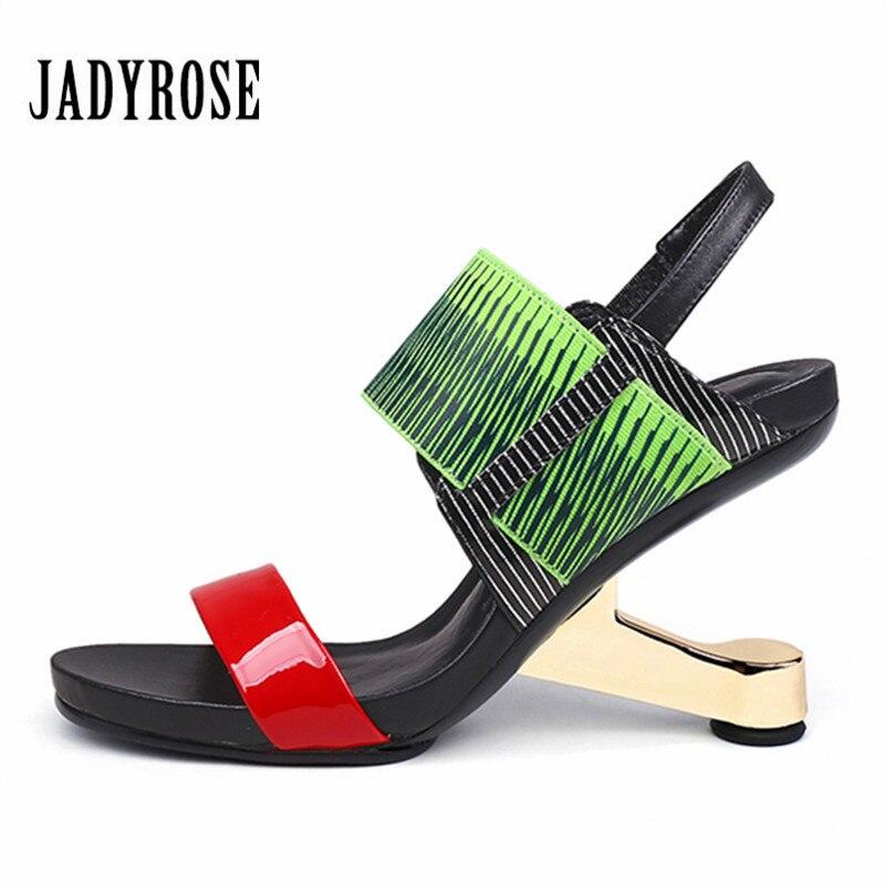 Jady Rose 2018 New Women Gladiator Sandals 8CM Strange High Heels Female Prom Wedge Shoes Woman Valentine Shoes Women Pumps цены онлайн