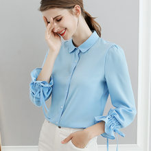 37e0c2741 OL estilo blusa top 2018 nueva moda Primavera Verano mujer ropa Coreana de  manga larga delgada