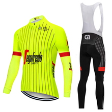 2018 Spring Autumn Collection New yellow Cycling Jersey Long Sleeve Men  Outdoor Racing Trekking Bicycle Jersey 9f38a3774