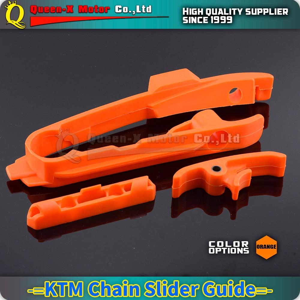 Orange Swingarm Chain Slider Slide Guide Fit KTM XC SX SXF 125 150 250 350 450