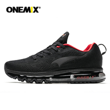ONEMIX mens running shoes Nice Zapatillas sports training black red cushion outdoor jogging 1118B