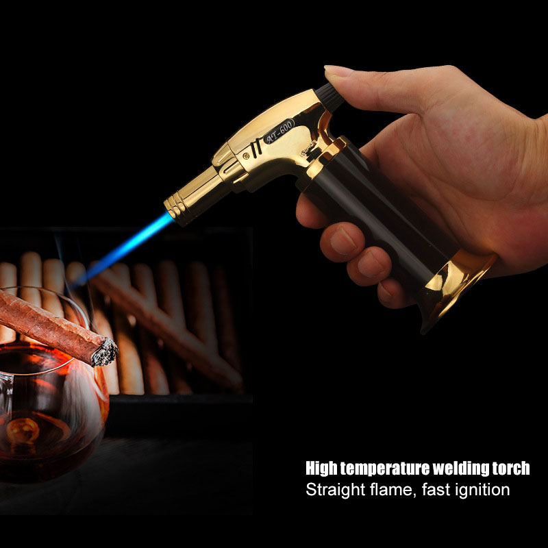 BBQ Lighter Cigar Torch Turbo Lighter Jet Butane Gas Cigarette Spray Gun Windproof Metal Pipe Lighter For Kitchen X