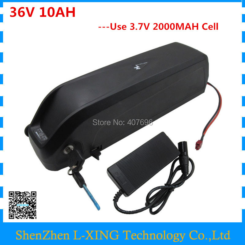 цена на 36V Ebike down tube battery with USB 10Ah 36V Electric Bike battery for Bafang/8fun 500W motor 36V lithium battery 42V 2A charge