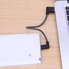 GC104 R разъем Micro Usb кабель для зарядки, прямоугольный разъем (под углом 90 градусов), черная нейлоновая оплетка с синхронной передачей данных шнур провод линия