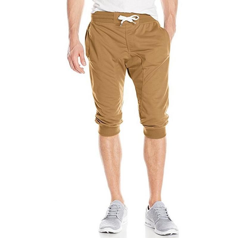 2018 New Mens Shorts Casual Bermuda Brand Compression Male Cargo Shorts Solid Color Men Linen Fashion Men Short Summer Linen