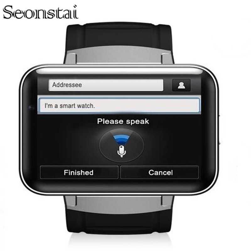 Seonstai DM98 2 2 Inch Android 4 4 3G Smartwatch Phone MTK6572 Dual Core 1 2GHz
