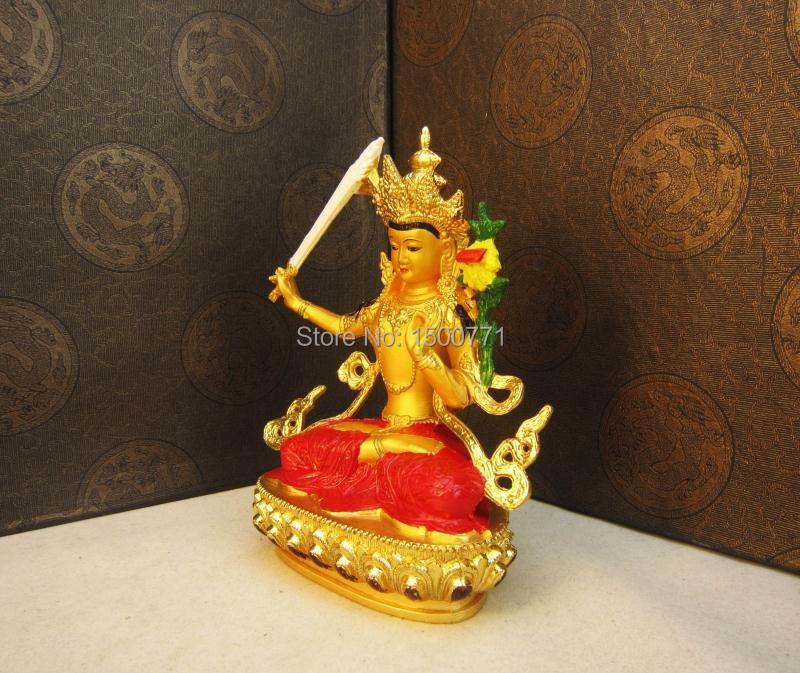 Բուդդայի արձանը / Manjushri natal gilt պղնձ - Տնային դեկոր - Լուսանկար 1