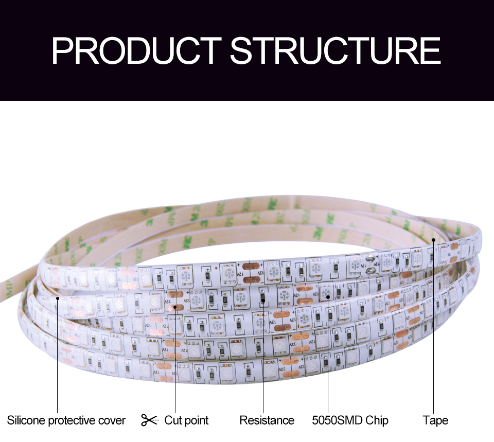 5M Led Plant grow light Waterproof SMD5050 Hydroponic Systems Led Grow Strip Light 300Leds Full spectrum (5)
