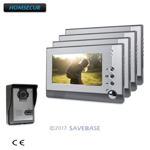 HOMSECUR 7 Video Door Phone Intercom System with One Button Unlock for Home Security