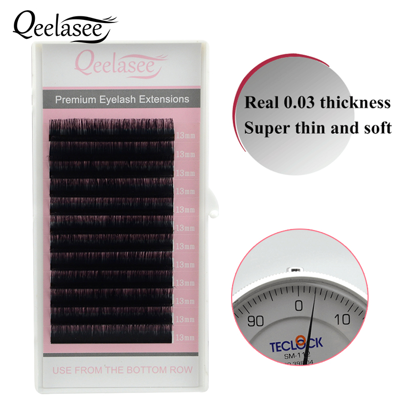 10 Cases 0.03mm All size Lengths Real 0.03 thickness Softer than 0.05 False Eyelash Extensions for 3D 12D Russian Volume Lashing-in False Eyelashes from Beauty & Health    1
