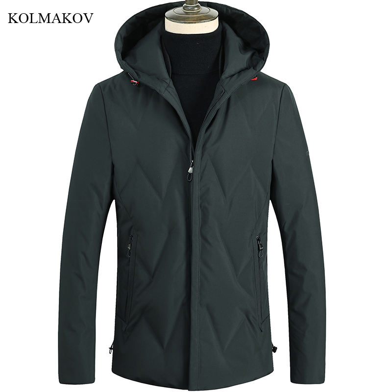 New Arrival Winter Style Men Boutique Leisure   Down     Coats   Business Casual Hooded Solid Slim Thick Warm   Down     Coat   Jacket M-3XL