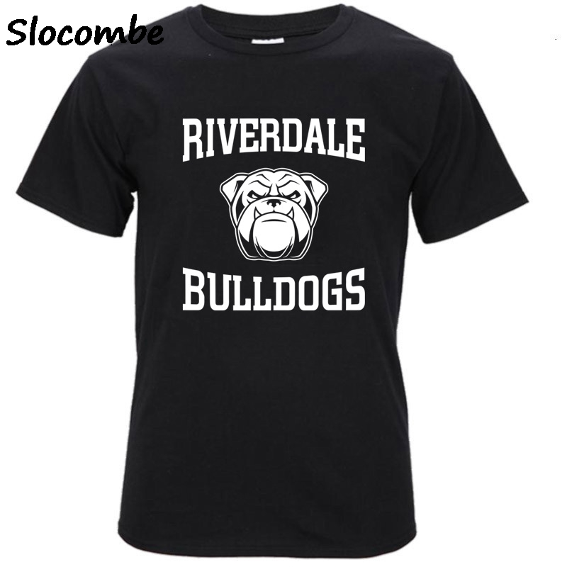 New 2017 Summer Fashion French Bulldog Design Riverdale T Shirt Mens High Quality dog Tops Hipster Tees pa890