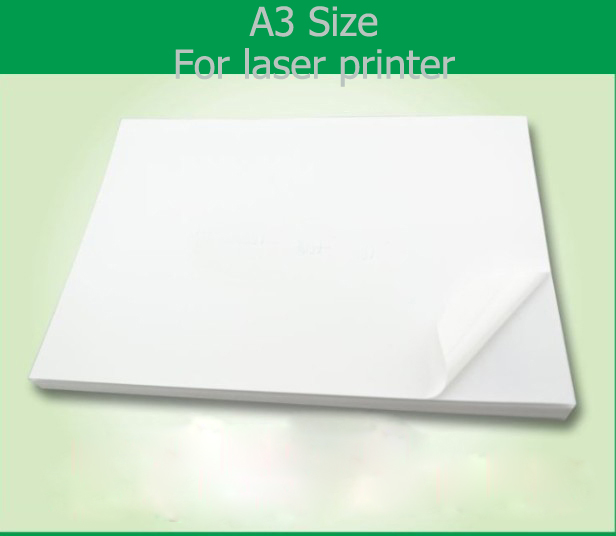 50 sheets good printing quality waterproof A3 blank white vinyl sticker  label paper for laser printer
