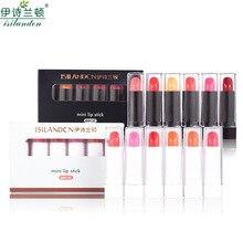Gift Box 6pcs/Set Nude Matte Lipstick Waterproof Long Lasting Moisturizing Batom Lip