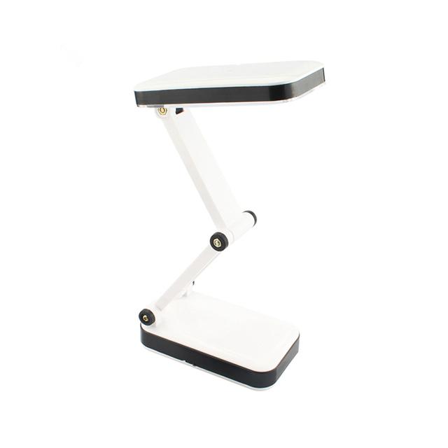 Portátil flexível 24 lâmpada led com 3 níveis de brilho lâmpada de mesa dobrável estudante lâmpada de leitura estudo com us-plugue