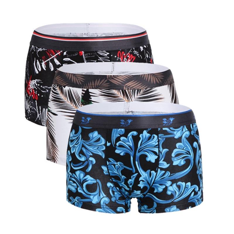 Boxer Cotton Underpants-Print Cartoon 3XL Brand-New 1pcs Men Homme Male High-Quality