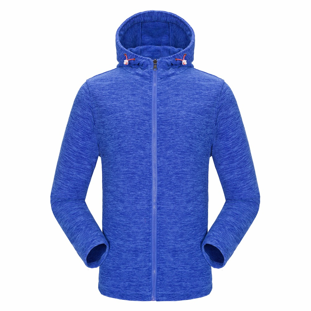 RAY GRACE Hiking Fleece Jacket For Men And Women Outdoor Hooded Warm Jacket Autumn Climbing Trekking Fishing Sports Outerwear