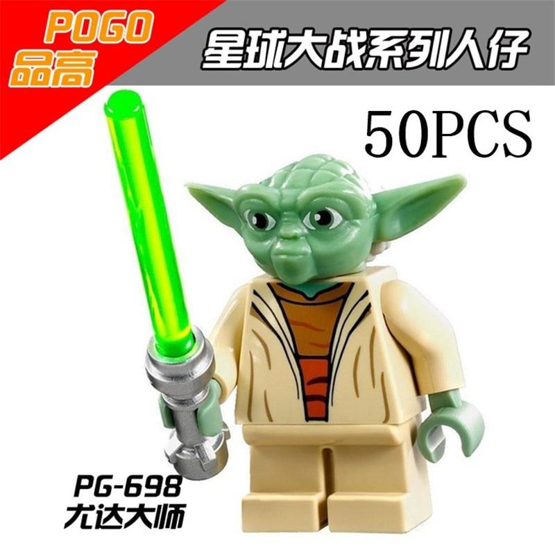 Gifts Star Wars Pogo XINH Wholesales PG698 Master Yoda 50PCS Building Blocks Bricks Toys Action Figures compatible legoe