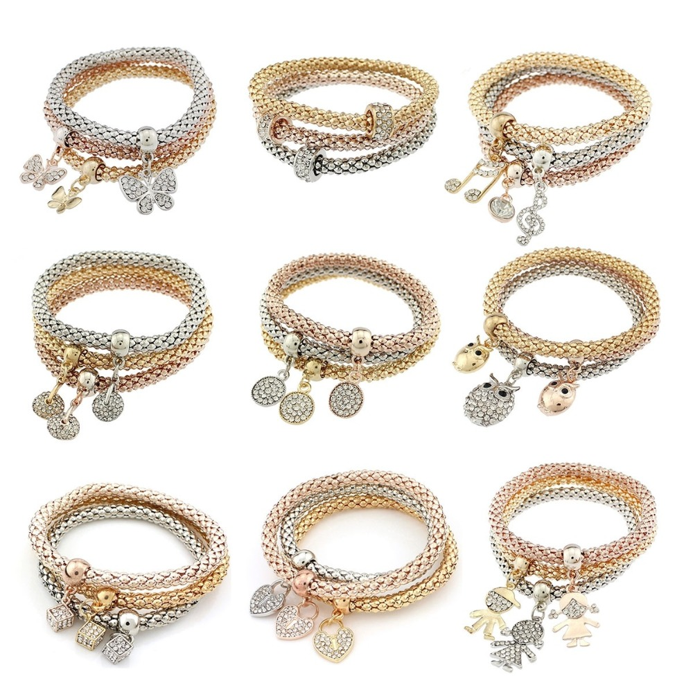 Bracelets For Charms: 3Pcs/set Fashion Jewelry Accessories Elegant Dice