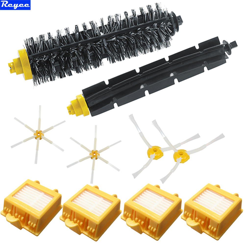 3/6 Arms Sidebrush Bristle Brush Flexible Beater Roomba 700 Filter For iRobot Roomba Vacuum Parts 700 Series 760 770 780 790 flexible beater brush bristle brush for irobot roomba 500 600 700 series 550 630 650 660 760 770 780 790 vacuum cleaner parts