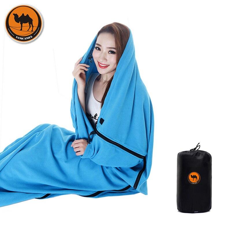 Outdoor Camping Multifunctional Sleeping Bag Warm Polar Fleece Hangout lazy lay laybag B ...