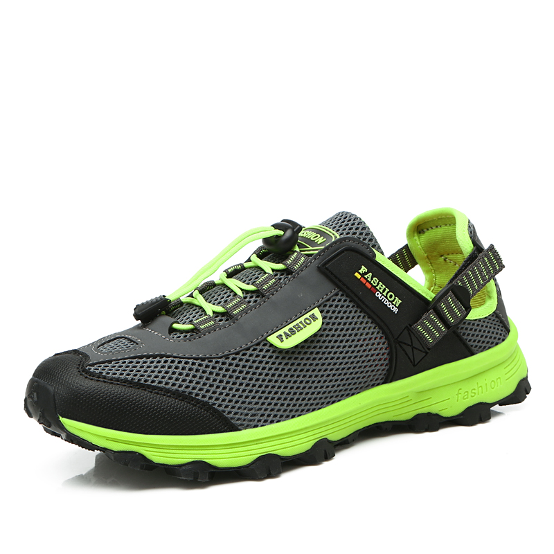 ФОТО Summer Hiking Shoes Men Women Breathable Mesh Trekking Shoes Colorful Lightweight Mountain Sneakers Couples Outdoor Sneakers