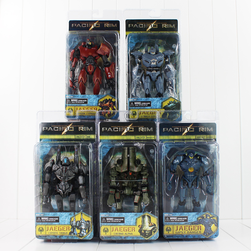 Hot 6 kinds NECA Pacific Rim Crimson Typhoon Gipsy Danger Coyote Tango joint movable Pacific Rim PVC Action Figure Model